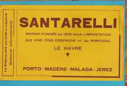 BUVARD&Blotter Paper Vins Fins D´Espagne Et Du Portugal SANTARELLI - Liquor & Beer