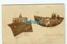 Br - 03 - HERISSON - CARTE PHOTO De L'église Et Le Chateau En 1902 - RARE - France