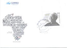 NELSON MANDELA FDC ARGENTINA ARGENTINE AÑO 2014 ENVELOPE FIRST DAY COVER ENVELOPPE PREMIER JOUR D'EMISSION - FDC
