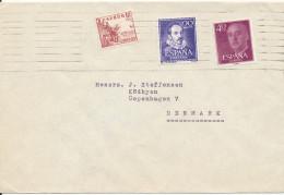 Spain Cover Sent To Denmark - 1961-70 Lettres