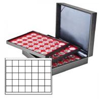Lindner 2365-2135E Münzkassette NERA XL Mit 3 Tableaus Und Hellroten Münzeinlagen Mit 105 Quadratischen Fächern Für - Supplies And Equipment