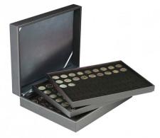 Lindner 2365-2154CE Münzkassette NERA XL Mit 3 Tableaus Und Schwarzen Münzeinlagen Für 162 Münzen Mit Ø 25,75 Mm, Z - Supplies And Equipment