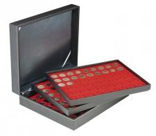 Lindner 2365-2154E Münzkassette NERA XL Mit 3 Tableaus Und Hellroten Münzeinlagen Für 162 Münzen Mit Ø 25,75 Mm, Z. - Supplies And Equipment