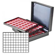 Lindner 2365-2180E Münzkassette NERA XL Mit 3 Tableaus Und Hellroten Münzeinlagen Mit 240 Quadratischen Fächern Für - Supplies And Equipment