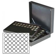 Lindner 2365-2226CE Münzkassette NERA XL Mit 3 Tableaus Und Schwarzen Münzeinlagen Für 90 Münzkapseln Mit Außen-Ø - Supplies And Equipment
