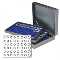 Lindner 2365-2506ME Münzkassette NERA XL Mit 3 Tableaus Und Dunkelblauen Münzeinlagen Für 18 Euro-Kursmünzensätze - Supplies And Equipment