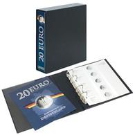 Lindner 3536E PUBLICA M Vordruckalbum 20 Euro-Silbermünzen Deutschland Inkl. Kassette - Supplies And Equipment
