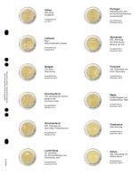 Lindner MU2E14 Multi Collect Vordruckblatt Fürt 2 € Gedenkmünzen - Spanien Dezember 2014 - Frankreich Juli 2015 - Supplies And Equipment