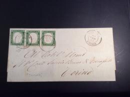 Italia Italy Sardinia Sardegna ORVIETO UMBRIA 1863 Cover > Torino Via Livorno (lettre Lettera Sardaigne) - Sardaigne
