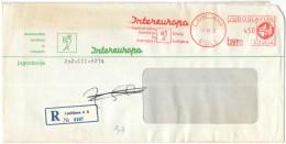 JUGOSLAVIA - Yugoslavia - YOUGOSLAVIE - JUGOSLAVIJA - 1972 - Registered - 4,50 - EMA, Red Cancel - Intereuropa - Viag... - 1945-1992 Repubblica Socialista Federale Di Jugoslavia