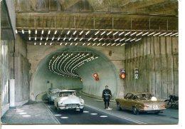 74400 CHAMONIX - COURMAYEUR - Tunnel Du Mont Blanc - Un Gendarme, DS Citroën, Fiat 2300 S Coupé - Chamonix-Mont-Blanc