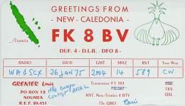 Amateur Radio QSL Card - FK8BV - New Caledonia - 1975 - Radio Amateur