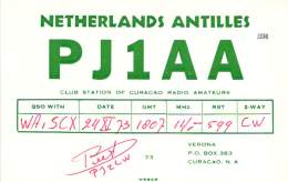 Amateur Radio QSL Card - PJ1AA - Curacao, Neth. Antilles - 1973 - Radio Amateur