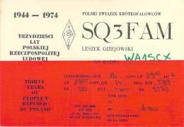 Amateur Radio QSL Card - SQ5FAM - Poland - 1974 - 2 Scans - Radio Amateur