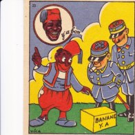 Chromo Pub Publicité Chocolat Y´a Bon Banania Illustrateur Signé Vica N° 23 Sur Le Front Des Armées - Chocolat