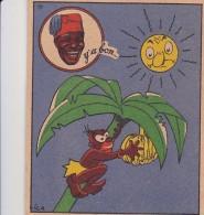 Chromo Pub Publicité Chocolat Y´a Bon Banania Illustrateur Signé Vica N° 29 Climat Privilégié Terre Feconde ... - Chocolat