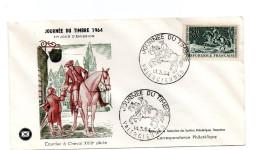 F. D. C. FRANCE - Journée Du Timbre 1964  Courrier à Cheval   59 Valenciennes  N° 1406 - 1960-1969