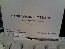 FOGLIETTO BIGLIETTO  PUBBLICITA MOBILI DITTA PARRAVICINI CESARE PALAZZOLO MILANESE  1930/50? FN3708 - Pubblicitari