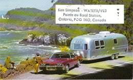 Amateur Radio QSL Card - WA3ETX/VE3 - Ontario CANADA - 1974 - 2 Scans - STAMPED - Radio Amateur