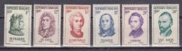 N° 1082 à 1087 Personnages Etrangers Ayant Participé à La Vie Française ; Timbres Neuf Impéccable Sans Charnière - Unused Stamps