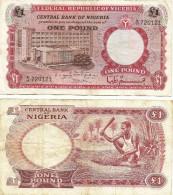 Nigeria 1 Pound 1967 VF - Nigeria