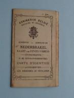 Carte D´Identite / Eenzelvigheid NEDERBRAKEL Van Nedervelde 11/3/1864 SEGELSEM Hergergierst ( Voir Photo Pour Détail ) ! - Non Classés