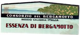 ESSENCE DE BERGAMOTTE ETICHETTA BERGAMOTTO CONSORZIO DI REGGIO CALABRIA ANNI 40-50 - Etiquettes