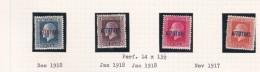 Cook Islands -Aitutaki SG 15-18 1917-18 Definitives Perf 14x13.5 Mint Light Hinged - Cook