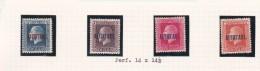 Cook Islands -Aitutaki SG 15-18 1917-18 Definitives Perf 14x14.5 Mint Light Hinged - Cook