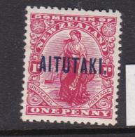 Cook Islands -Aitutaki SG 20 1920 One Penny Carmine Mint - Cook Islands