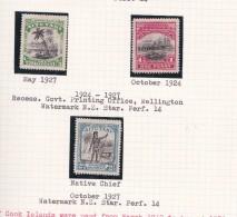 Cook Islands -Aitutaki SG 30-32 1924-27 Definitives Perf 14 Mint Light Hinged - Cook