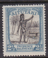 Cook Islands -Aitutaki SG 32 1927 Two And Half Pennies Black And Dull Blue Mint - Cook