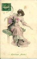Sur CPA 5C Semeuse Perforé B R P (rare) 1913 - Perfins