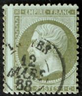 NAPOLEON III 1862 - OBLITERE - YT 19 - MI 18 - IMPRESSION DECALEE - 1862 Napoléon III.