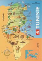 CPM:  TUNISIE :     Carte Géographique.             (A 4349) - Maps