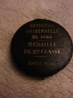 Médaille PARIS EXPOSITION UNIVERSELLE DE 1855 Emile BEAU Empereur Napoléon III / Blason Aigle Insdustrie - France