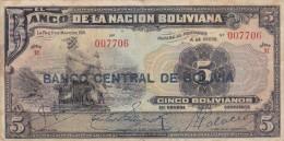 Banco Central De BOLIVIA  1929. - Bolivia