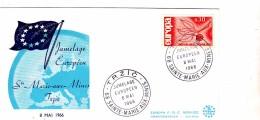 HAUT RHIN  / 1966 JUMELAGE EUROPEEN STE MARIE AUX MINES / TRZIC - Covers & Documents