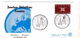 NORD / JUMELAGE PHILATELIQUE EUROPEEN ROUBAIX 12/13 SEPTEMBRE 1964 - Covers & Documents