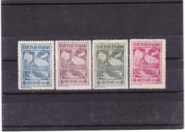 #6125 Germany/Austria Set Of 4 Poster Stamps Cinderella MH, WW1: War Propaganda - Gott Strafe England - Cinderellas