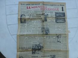 La Nouvelle République Du Centre-Ouest, 25 Juin 1951, Louison Bobet, 24 H Du MANS (Automobile) ; Ref 812 C32 - Newspapers