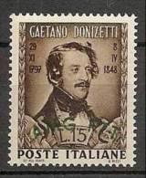 1948 Italia Italy Trieste A  DONIZETTI Serie MNH** - Musica