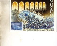 CARTE MAXI  MONACO   CONCERTS DU PALAIS    TIMBRE   N° YVERT ET TELLIER 14529     1984 - Maximum Cards