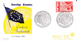 HAUT RHIN  / 1965 JUMELAGE EUROPEEN / SAINT LOUIS / BREISACH - Covers & Documents
