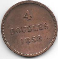 *Guernsey 4 Doubles 1858  Km 2 Vf - Guernesey