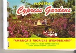 "Florida's Cypress Gardens ""America's Tropical Wonderland  Booklet Ten Natural Color Reproductions - Exploration/Voyages"