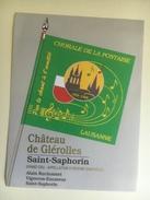 1293- Suisse Vaud St-Saphorin Château De Glérolles Chorale De La Pontaise Lausanne 1906-1996 - Musique