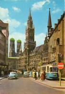 < Automobile Auto Voiture Car >> Opel Rekord P1, Tramway Streetcar, München - Voitures De Tourisme