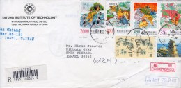 """TAIWAN ( FORMOSA ) / Republic Of China 1998 Registered Mailed To Israel """"Journey To The West"""" Full Set++ - Storia Postale"""