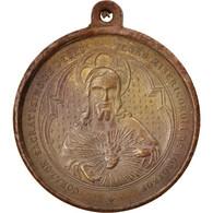 Espagne, Medal, Jesus And The Virgin, Religions & Beliefs, XIXth Century, TTB - Spain